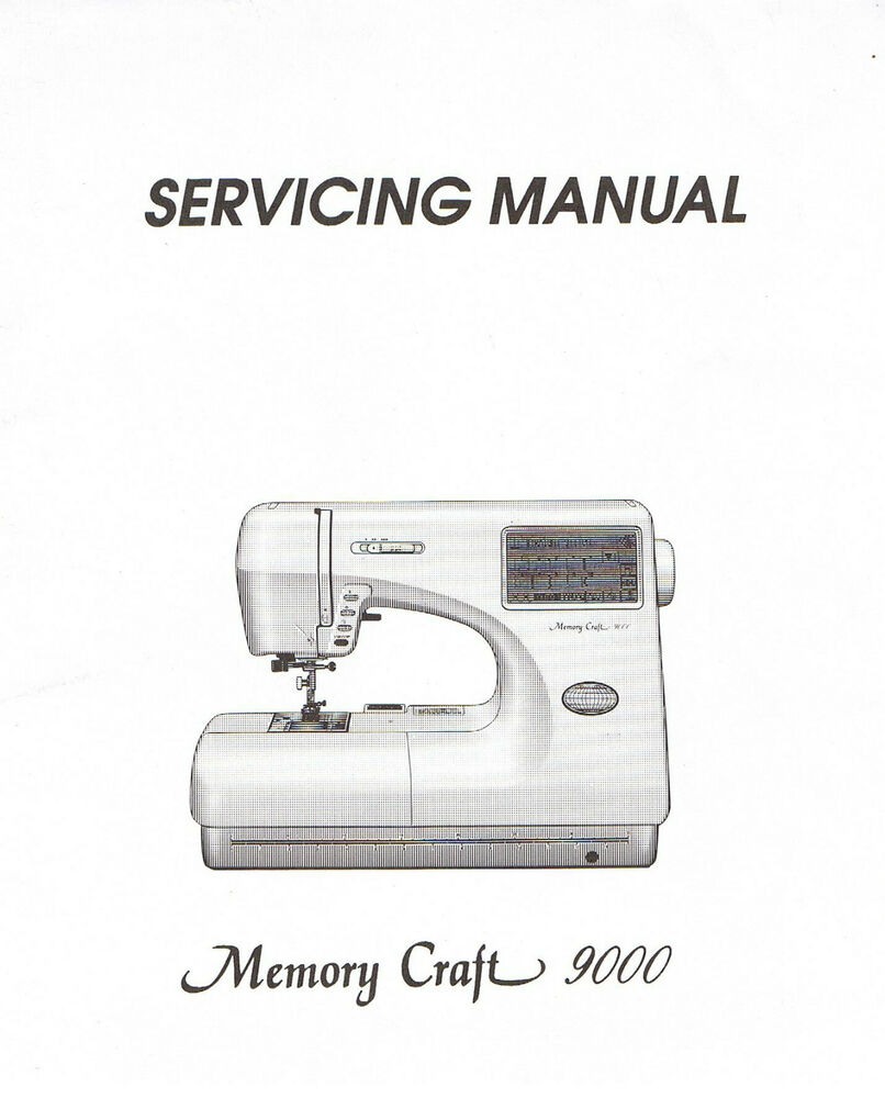 Janome Memory Craft 9000 Sewing Machine Service Repair Manual + Parts List  | eBay