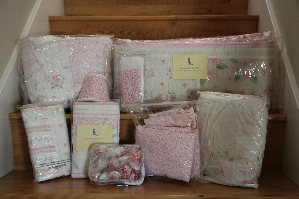 Pottery Barn Pink Jacqueline Nursery Bedding Set