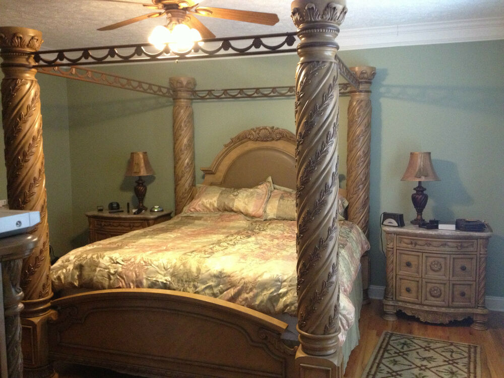 north shore bedroom collection king size poster bed 17386 | s l1000