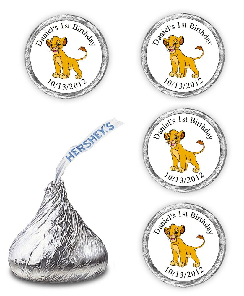 108 LION KING BIRTHDAY PARTY CANDY KISSES FAVORS WRAPPERS ...