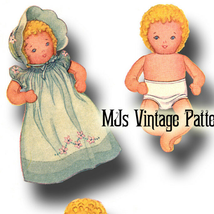 Vintage Pattern Stuffed Baby Doll Amp Layette Dress