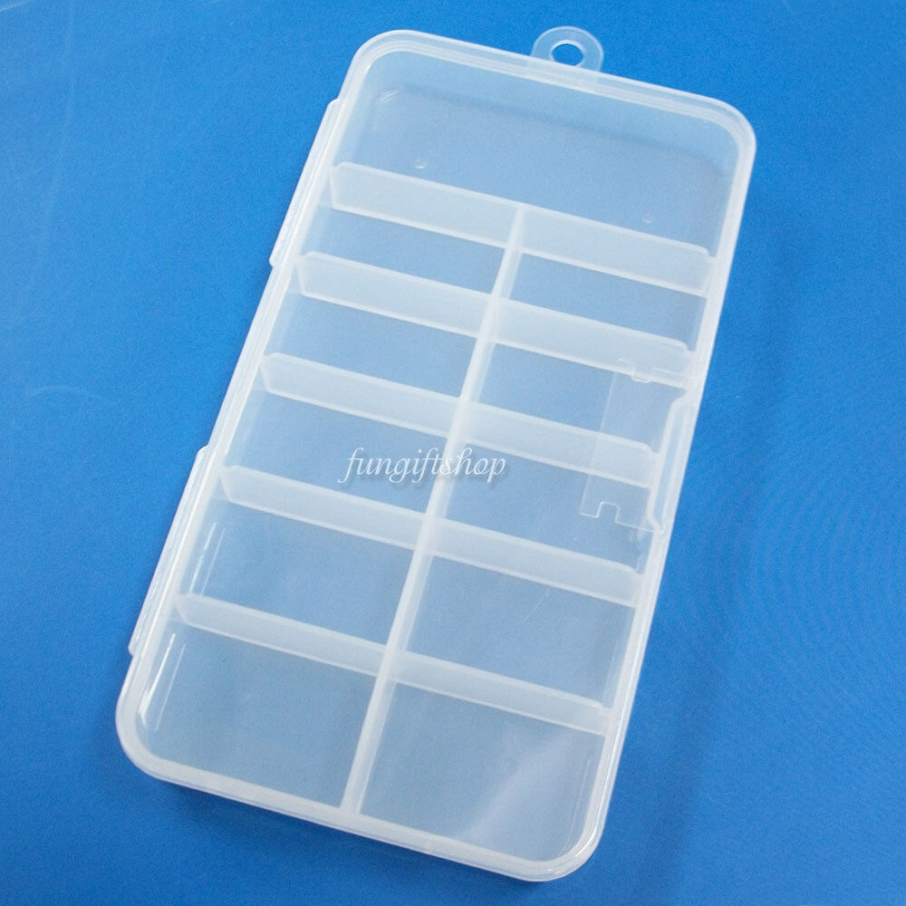 Plastic Carry Clear Container Storage Box Case For Nail
