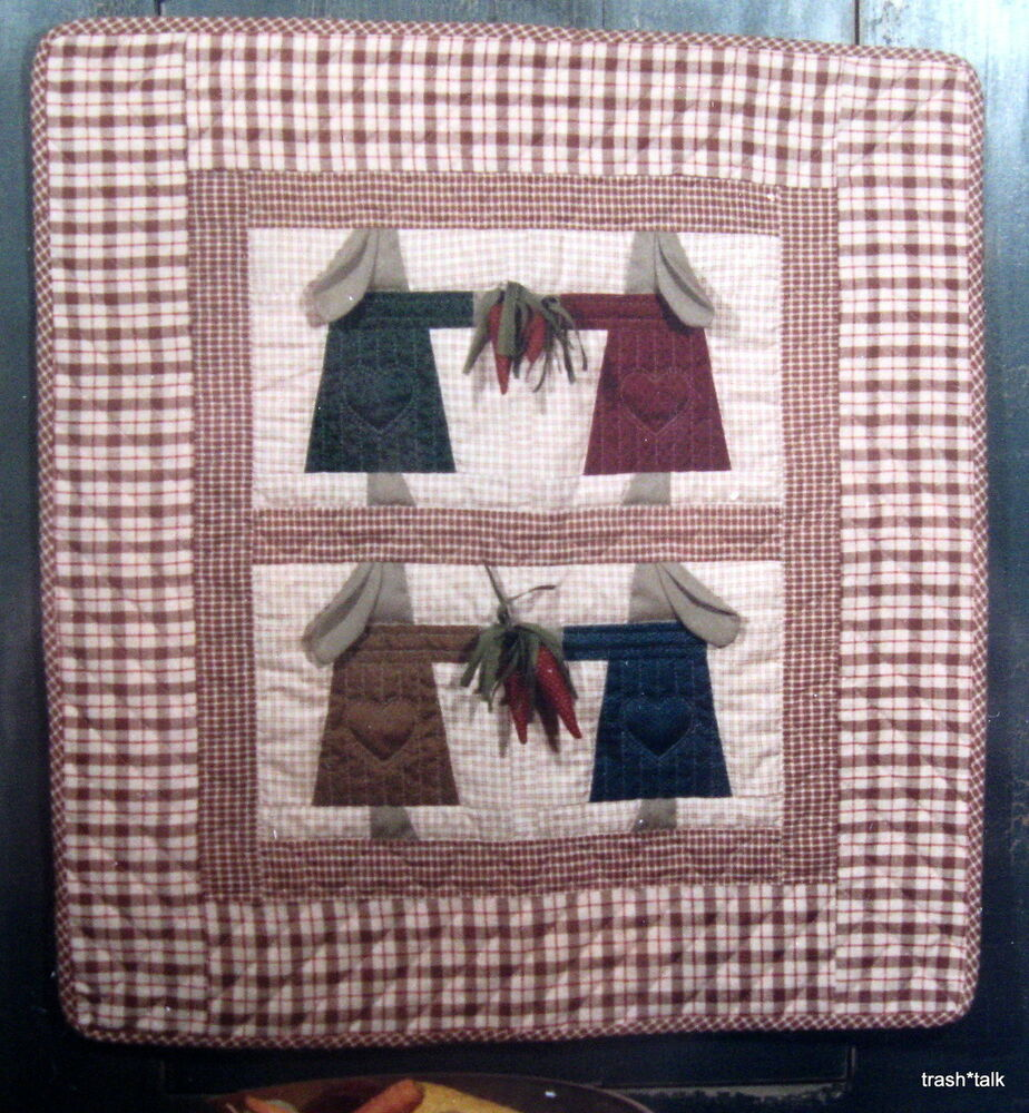 Primitive Bunny Rabbit Girl Wallhanging Quilt Pattern