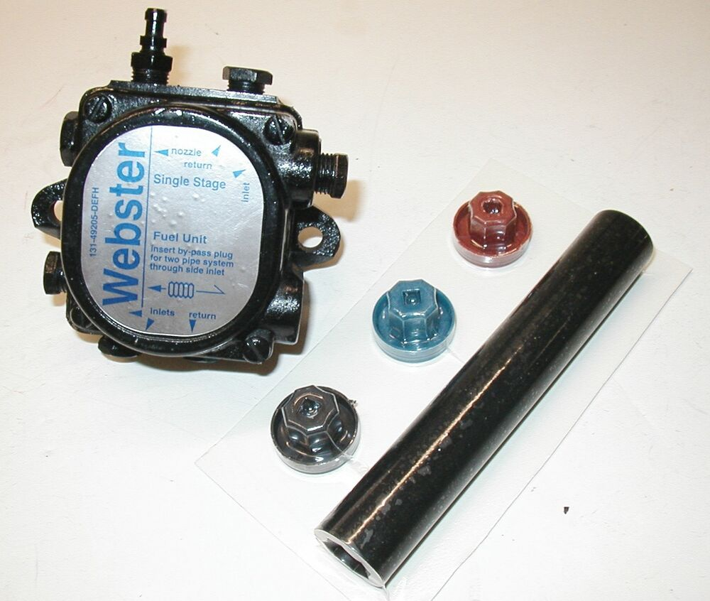 Webster M34dj M34d Oil Burner Pump Includes New Coupling