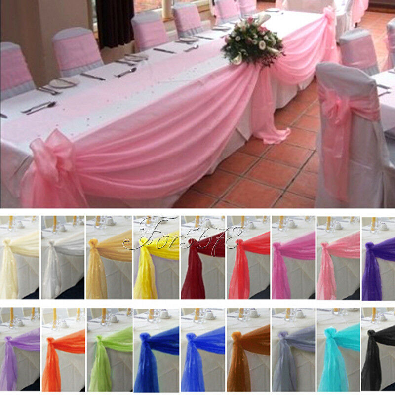 Wedding Table Decorations: 5M*1.35M Top Table Swags Sheer Organza Fabric DIY Wedding
