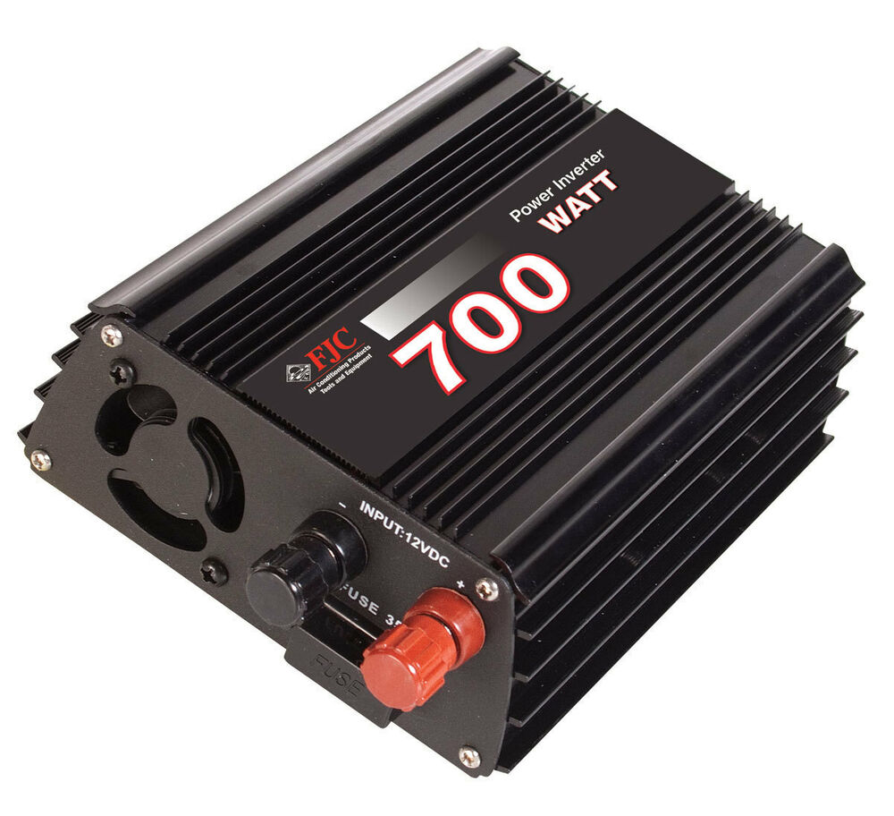 Professional Series 700 Watt Power Inverter   Convert 12v Dc To 110v  120v Ac New