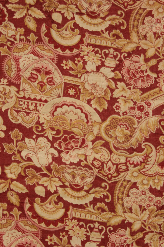 Antique french printed cotton arts crafts fabric lovely for Fabric arts and crafts ideas
