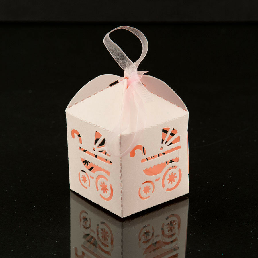 Pink Baby Carriage Favor Candy Box Party Baby Shower