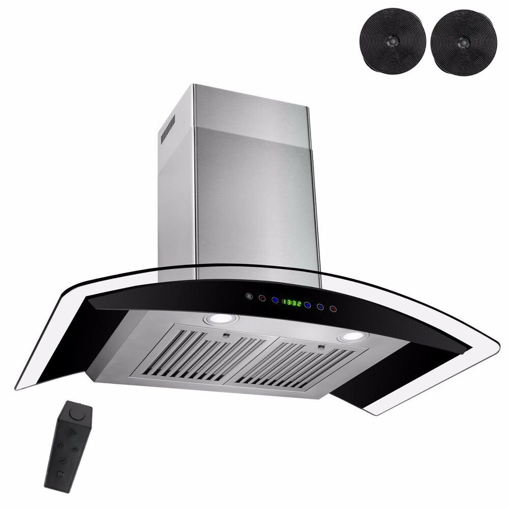 Kitchen 30 Quot Wall Mount Black Ductless Range Hood Stove