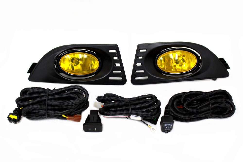 05 06 acura rsx dc5 jdm yellow fog light kit harness switch base type s ebay