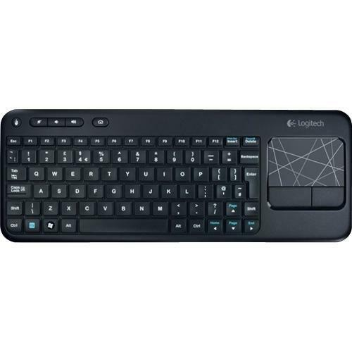 logitech wireless touch keyboard k400 with built in multi touch touchpad ebay. Black Bedroom Furniture Sets. Home Design Ideas