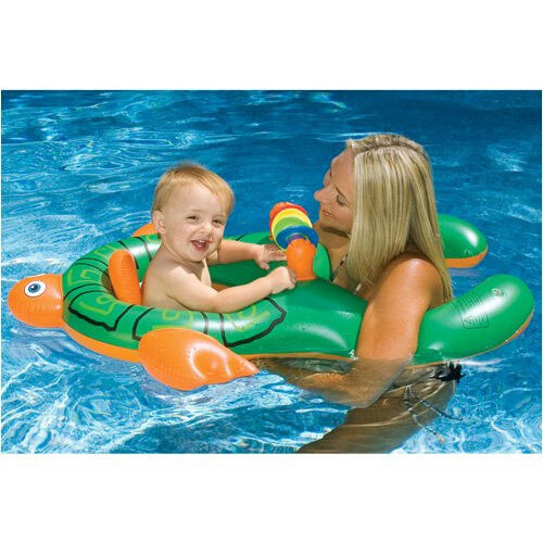 Swimline Mom And Me Baby Seat Float Inflatable Pool Learn