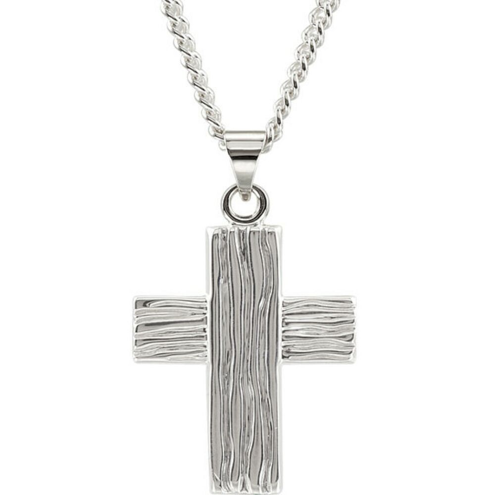 sterling silver rugged cross pendant charm small ebay