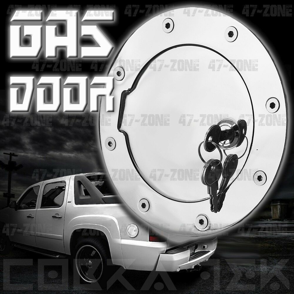 Chrome Fuel Gas Door W Lock 99 06 Chevy Silverado 1500 01