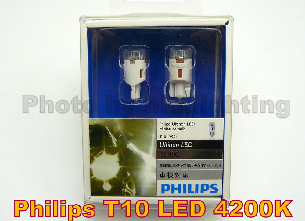 2x genuine philips ultinon led miniature bulb t10 4200k. Black Bedroom Furniture Sets. Home Design Ideas