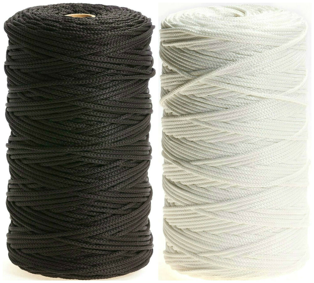 6MM WIDE AVAILABLE IN BLACK OR WHITE /& DIFFERENT LENGTHS ELASTIC 8 CORD FLAT