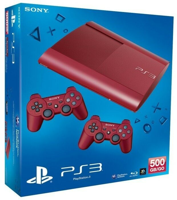 limited edition 500gb red ps3 console 2 red controllers aus new