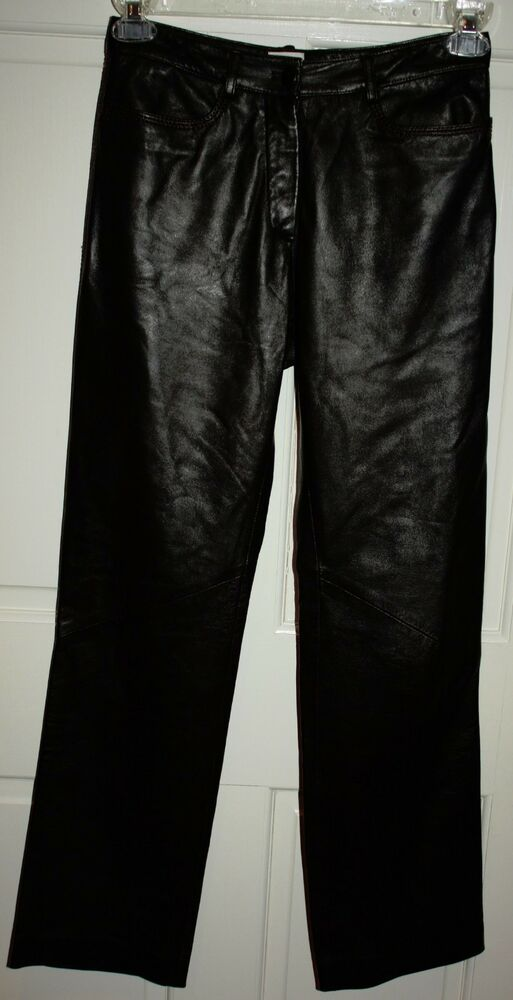 Wonderful Brown Leather Pants For Women Brown Faux Leather Rhinestone