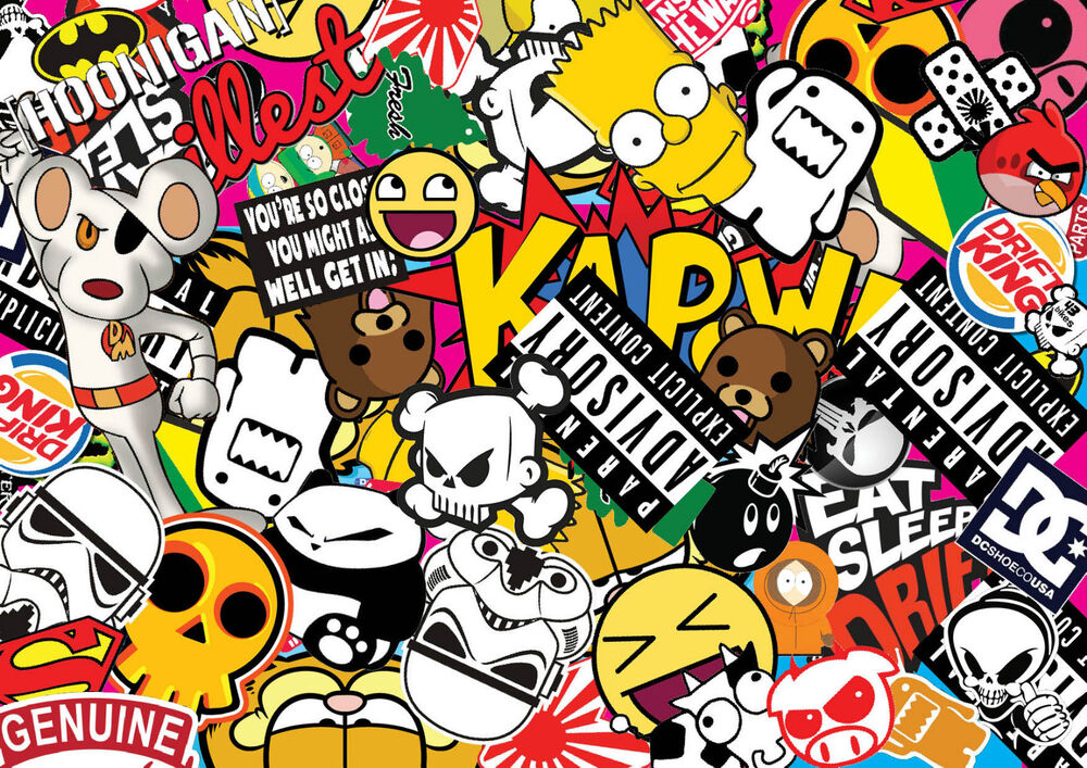 X4 jdm sticker bombing sheets a4 sticker bomb decal euro style drift vw jdm ebay