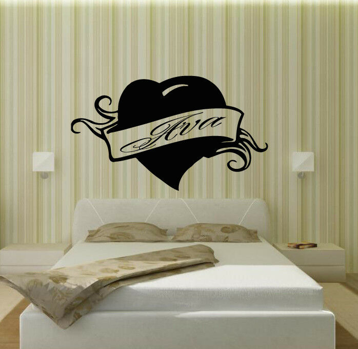 Wall stickers vinyl decal ava personalized name lettering for Custom wall mural decals