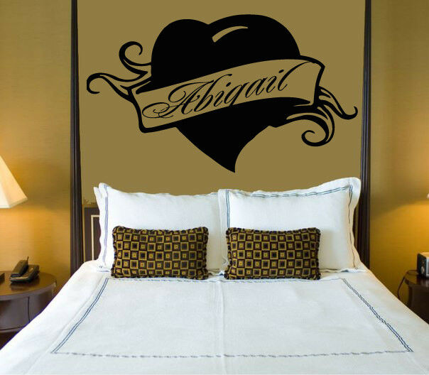 wall stickers vinyl decal abigail personalized name lettering custom