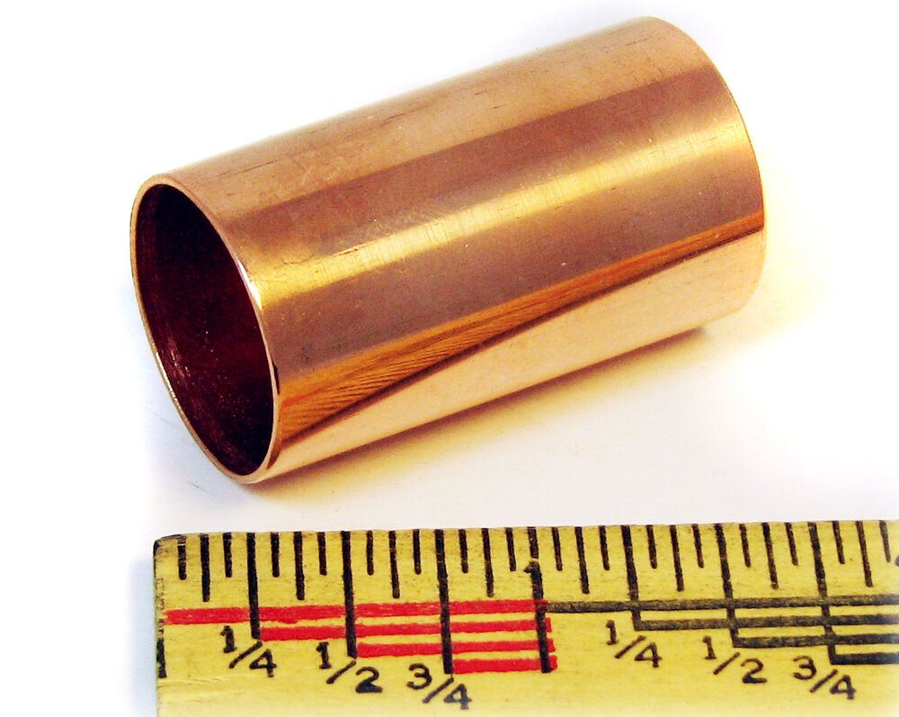 "Small Copper Tubing Sizes: Polished Copper Pipe Stubby Slide: 1 1/2"" Great For Cigar"