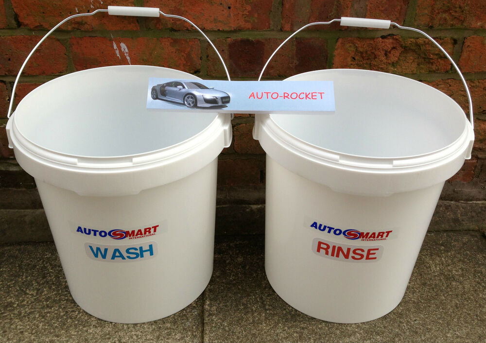 2 X Car Wash Buckets 20 Litres Wash Amp Rinse With