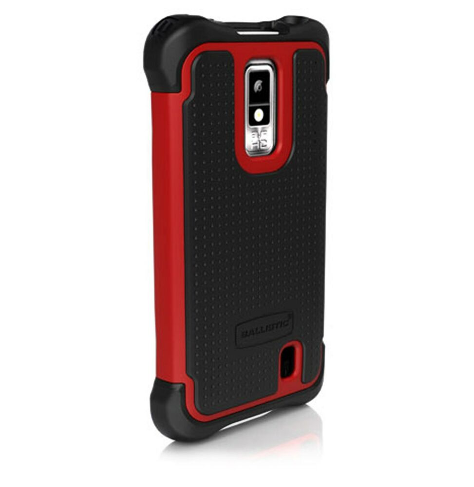 Ballistic SA0782-M355 Case for LG Spectrum VS920 1st Gen - Black/Red ...