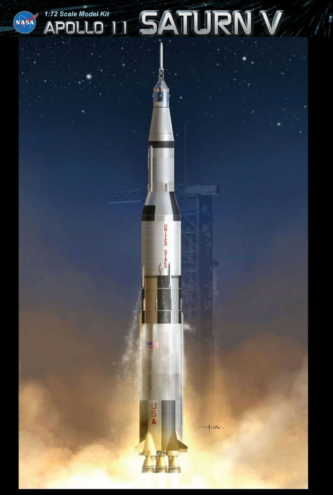 DML Dragon 11017 1 72 Apollo 11 Saturn V Rocket Model Kit ...