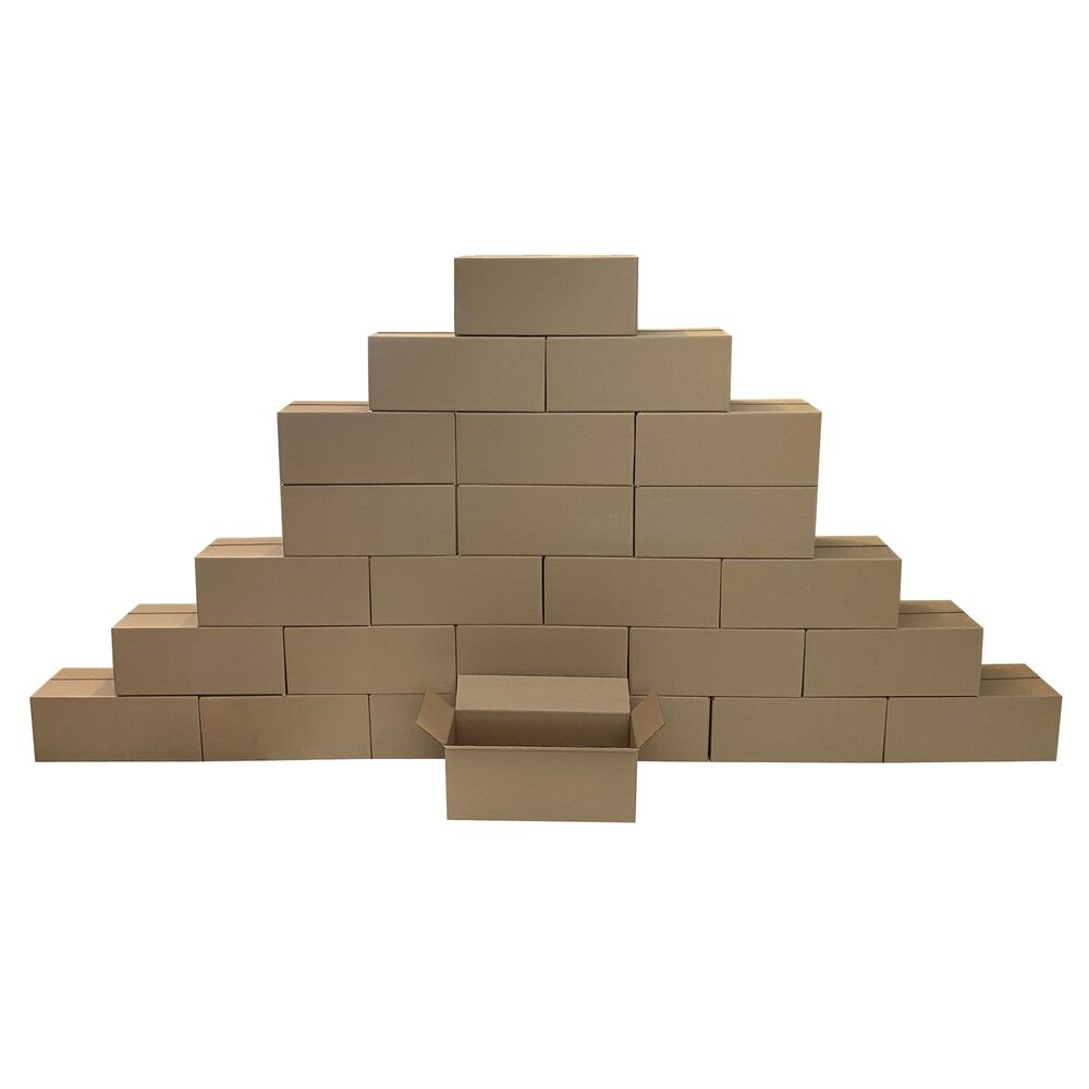 25 long corrugated boxes 20 x 8 x 8 cardboard shipping. Black Bedroom Furniture Sets. Home Design Ideas