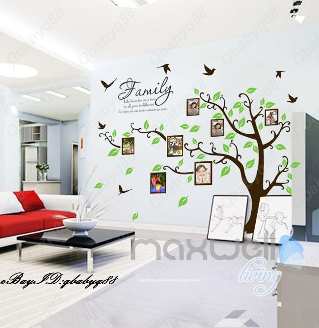 Family Like Branch Photo Picture Frame Tree Wall Stickers