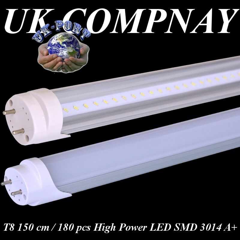 t8 led tube light 150 cm fluorescent replacement g13 high power led smd 3014 ebay. Black Bedroom Furniture Sets. Home Design Ideas