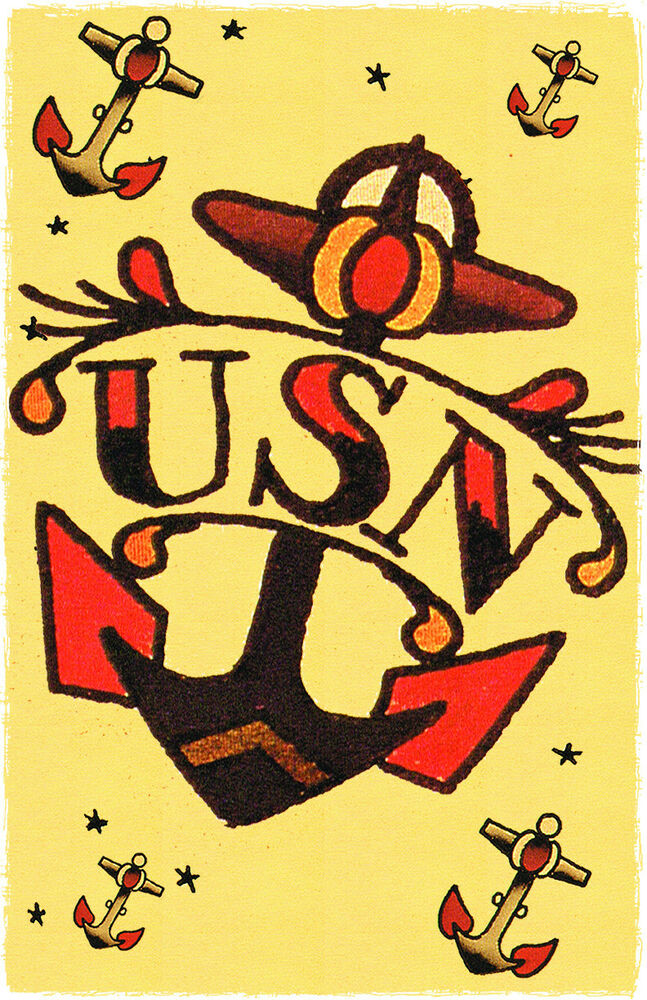 156 us navy anchor tattoo sailor jerry traditional style for Traditional navy tattoos