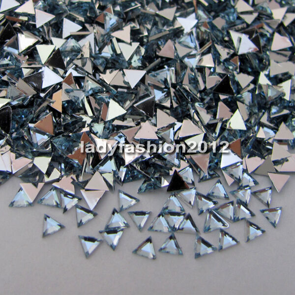 10000pcs triangle 3d acrylic nail art diy decorations flat for Acrylic nail decoration supplies