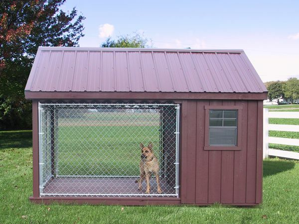 DOG RUN OUTDOOR KENNEL K9 HOUSE AMISH PA DUTCH CUSTOM HANDMADE SHED