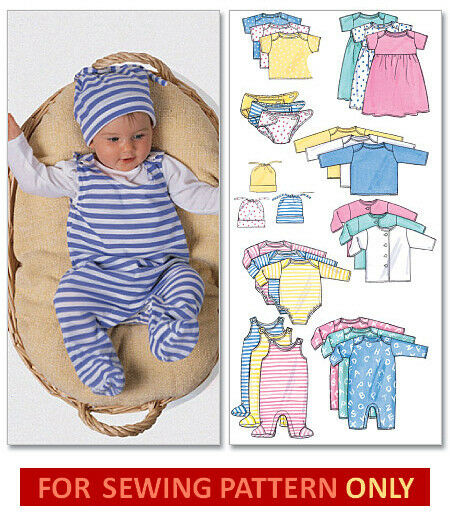 Sewing Pattern Make Baby Layette Diaper Cover Romper Top