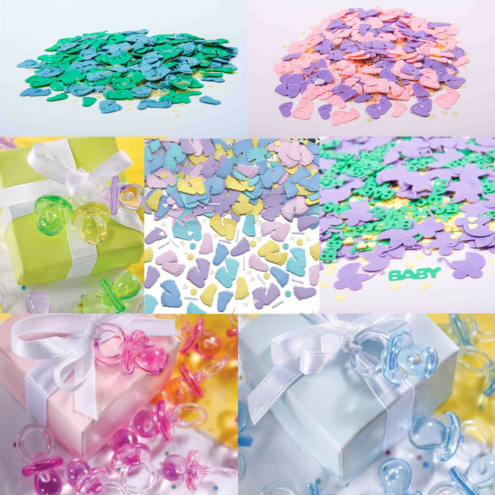 Baby shower table confetti decorations baby party - Where to buy baby shower decorations ...