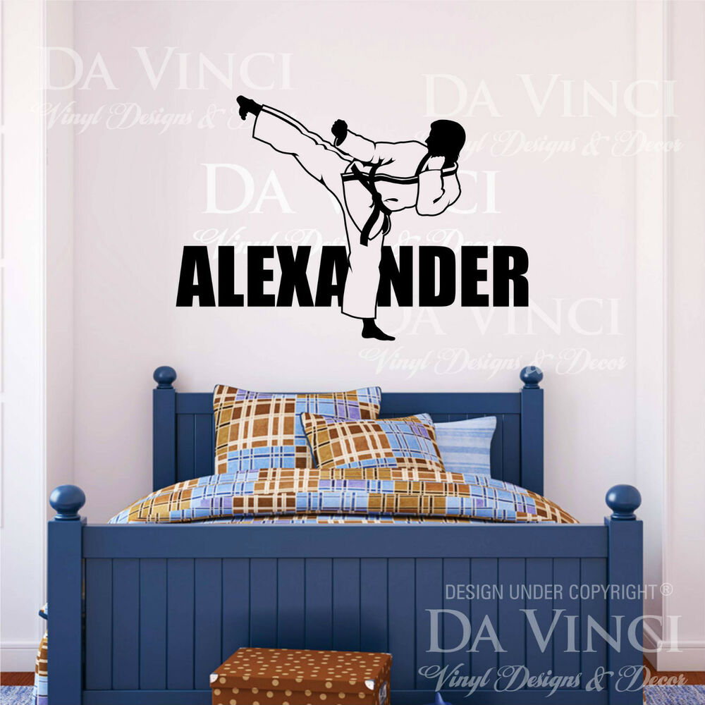 Wall: Karate Martial Arts Wall Room Personalized Custom Name