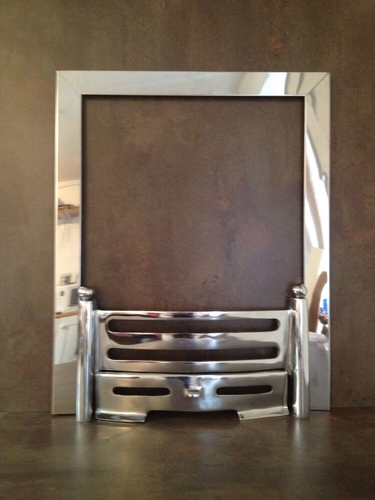 Polished Chrome Electric or Gas Cast Iron Fire Fret ...
