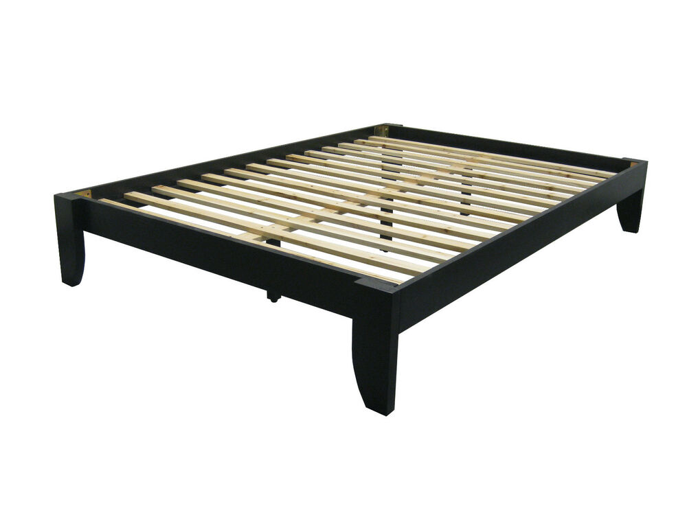Full Bamboo All Wood Platform Bed Frame Choose Finish Ebay