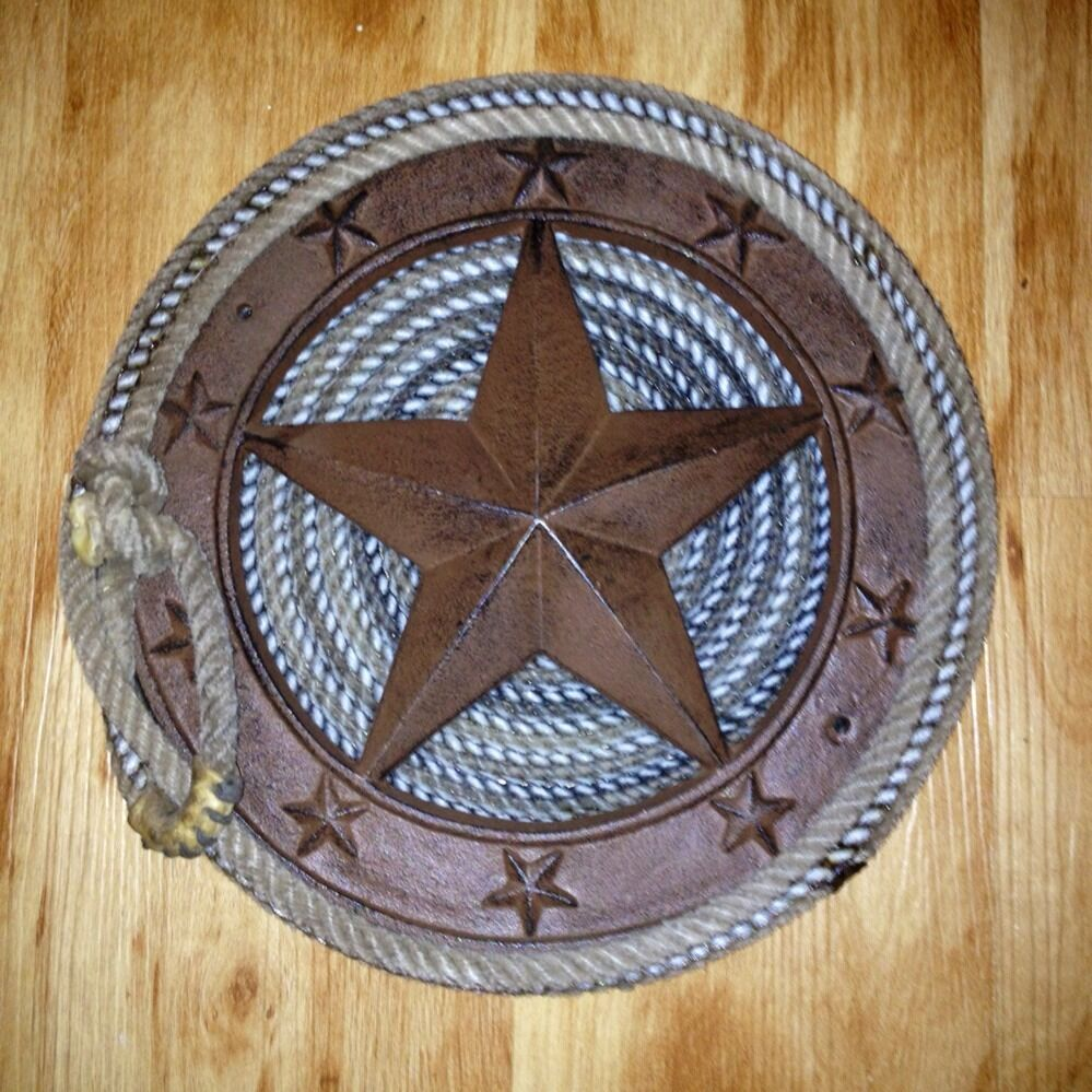 Texas Western Rope Handmade Metal Star Cowboy Lasso Ranch