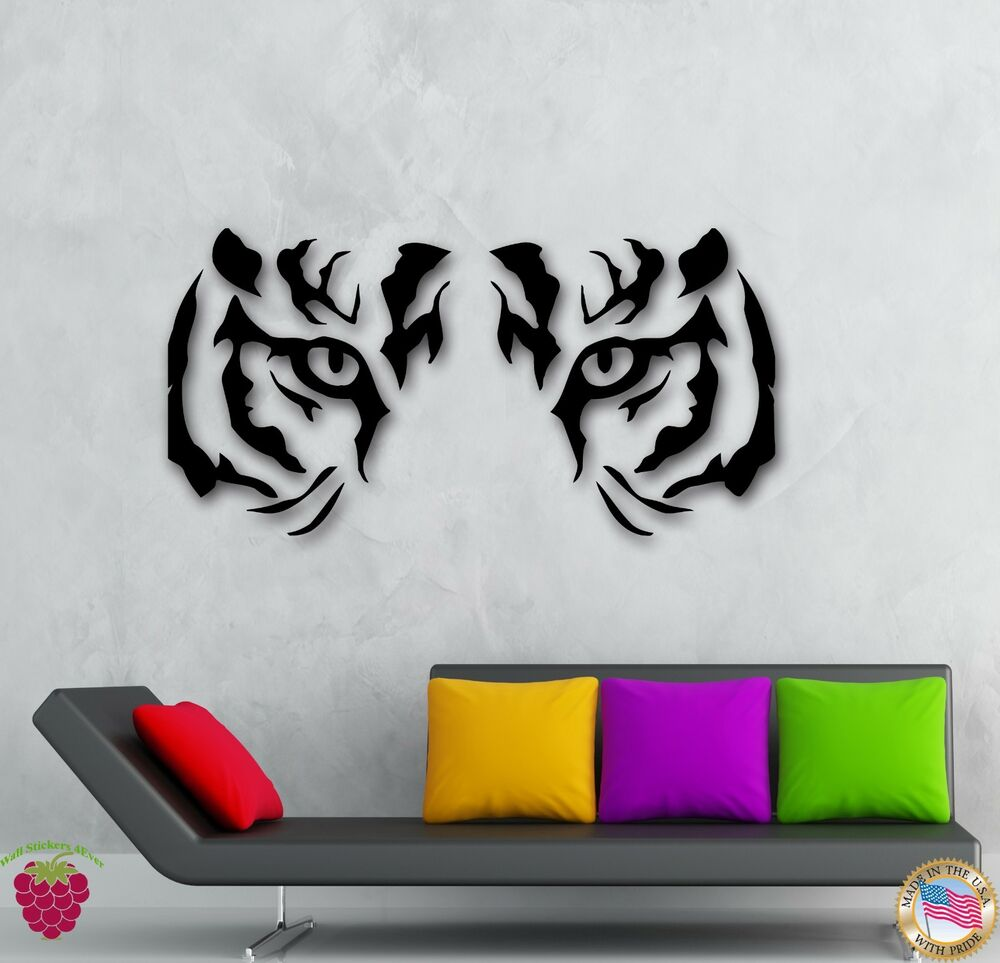 Wall Art Stickers Eyes : Wall stickers vinyl decal animal tiger raptor tribal eyes