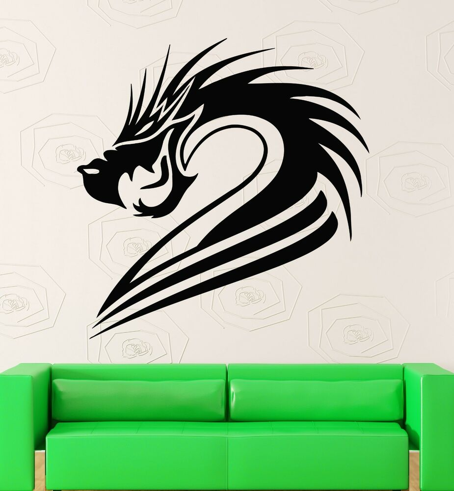 Wall stickers vinyl decal fantasy mythical chinese dragon wall decor