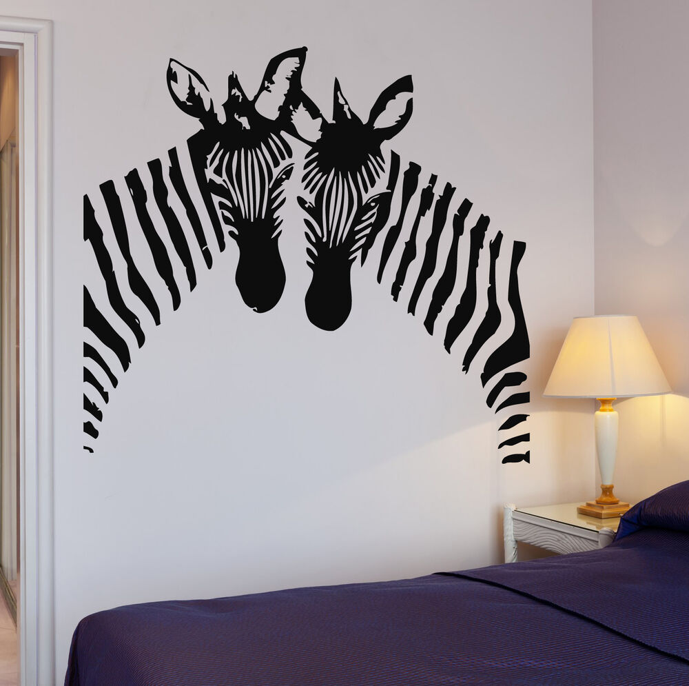 Zebra Wall Stickers Vinyl Decal African Animal Couple