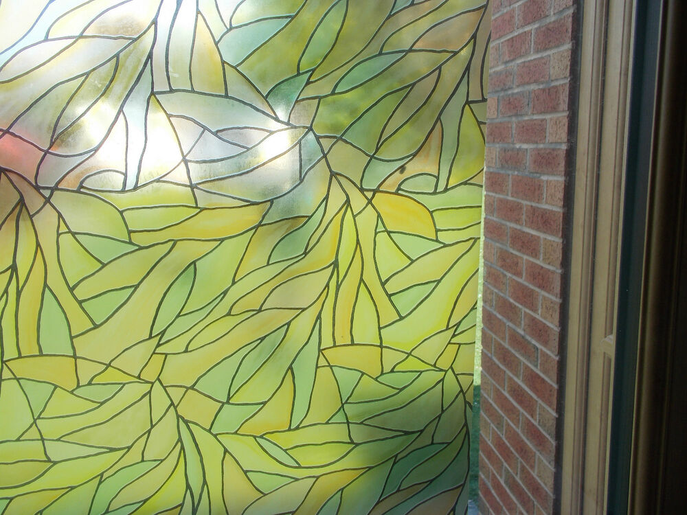 Colour Frosted Privacy Glass Static Cling Sticky Back