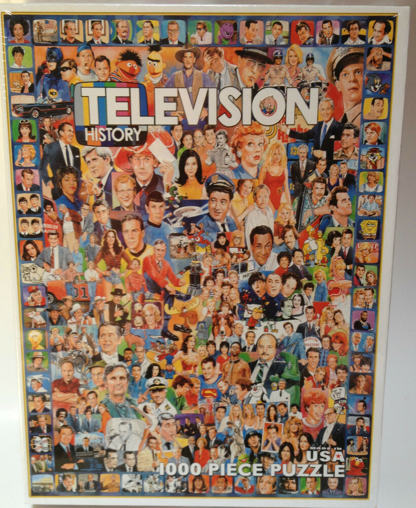 television history 1000 large piece jigsaw puzzle retro tv. Black Bedroom Furniture Sets. Home Design Ideas