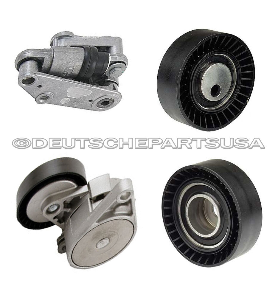 Hydraulic Drive Belt A C Tensioner Shock Pulleys For Bmw
