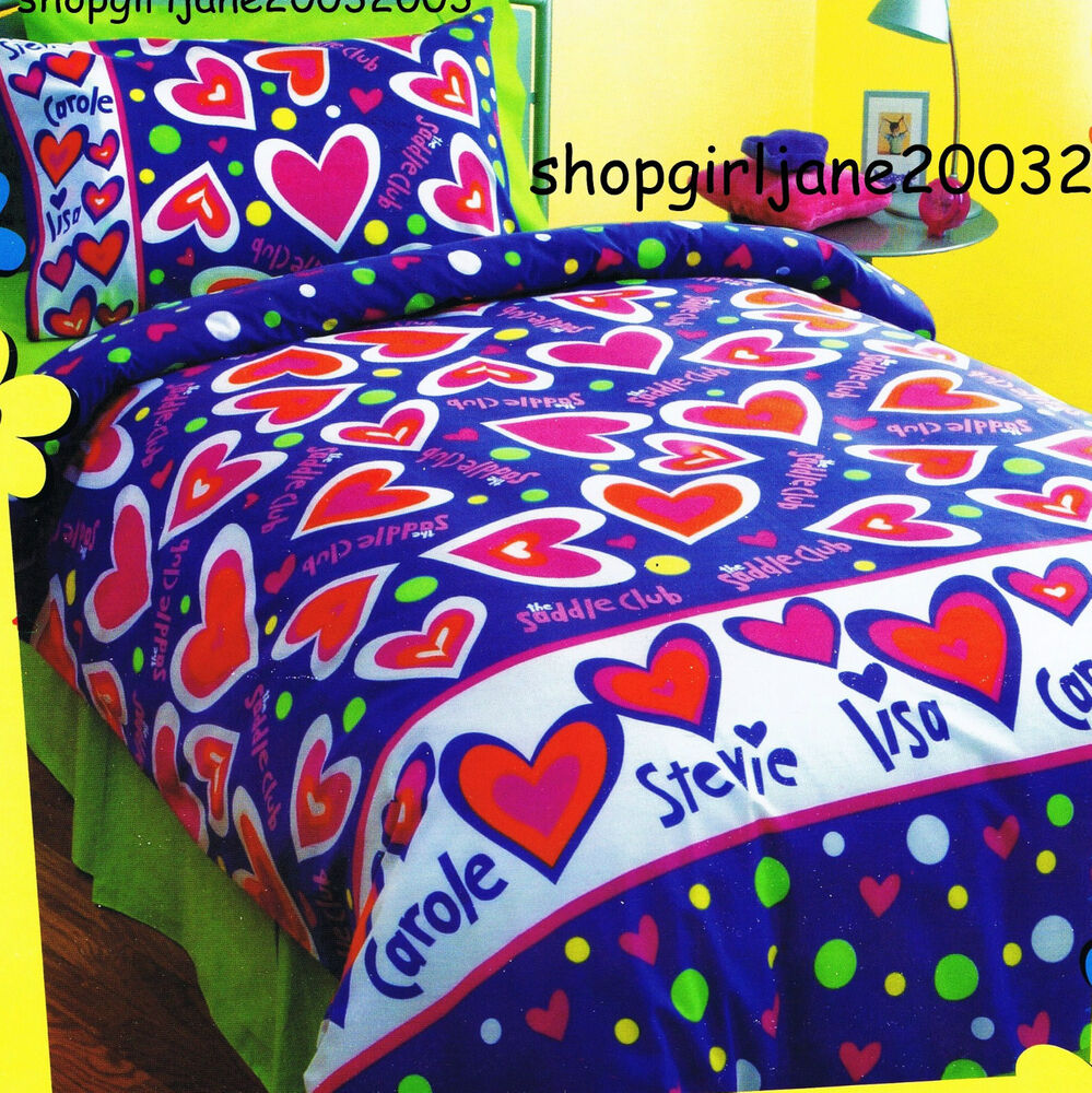Saddle club hearts double us full bed quilt doona duvet cover set