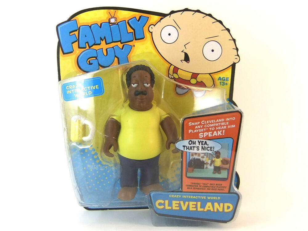 Cleveland Family Guy Toys : Family guy cleveland interactive quot figure brand new great