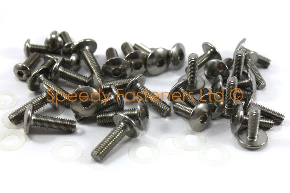 yamaha r6 2008 12 upgraded stainless steel fairing bolts